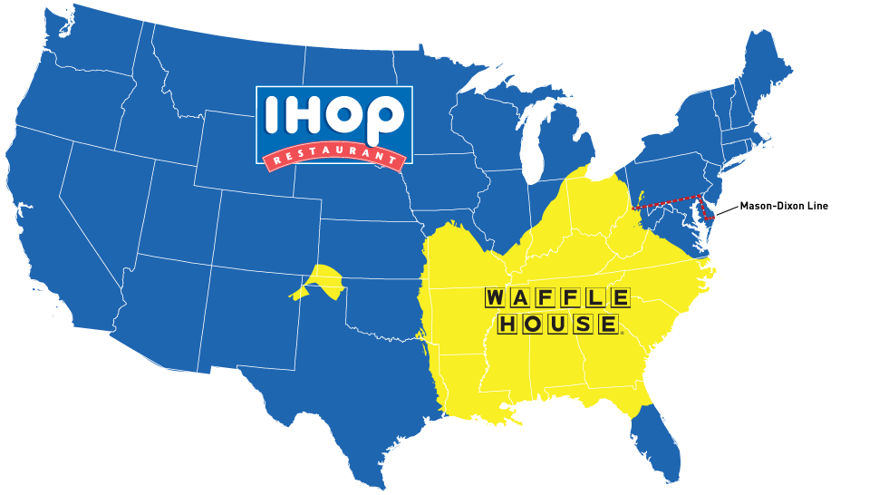 Map Do You Live In IHOP America Or Waffle House America BLACK TRUTH NEWS